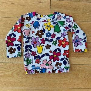 Hanna Andersson Floral Print Swim Shirt
